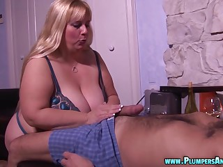 Judith B is a chubby blonde craving a man's erected dong
