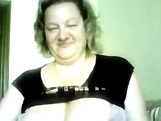 Hot 50 yo Russian mature Marina stance on skype