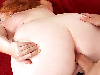 Lickerish Fat Redhead Scarlett Raven Takes a Hard Cock in Her Frowardness and Asshole