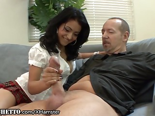 Hairy Latina Schoolgirl Wants Ancient Teachers Dick