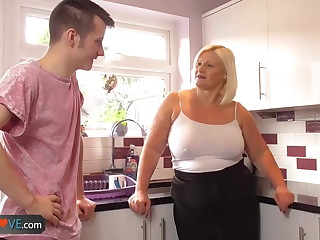 Agedlove mature chubby blowjob together with doggystyle