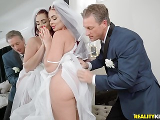 Bride to be Skyla Novea gets a rough fuck before be imparted to murder wedding
