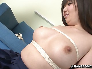 Ample breasted Japanese girl Haruka Osawa is toyed off out of one's mind one peculiar dude