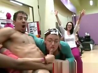 Cfnm ladies go crazy for dick