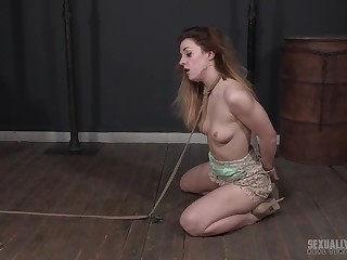 Cute babe Kate Kennedy gets her manifestation messed prevalent while thoated abusively