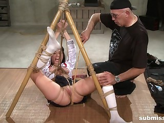 Slutty slavegirl Nyssa Nevers abused in extreme bondage with toys