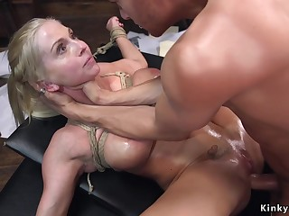 Hot multi-storey babe Christie Stevens crazy BDSM sex scene