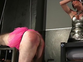 Lady Sahara and another babe like to punish a guy together