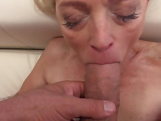 Sweet babe and stunning granny cut capers with chunky cocks