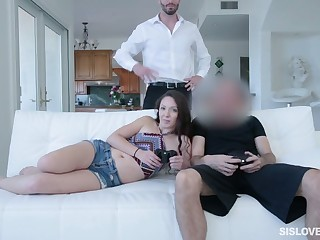 Spoiled stepsister Victoria Vixxen is eager for hard and beamy dong