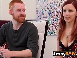 Laura gets her melons sucked by swinger