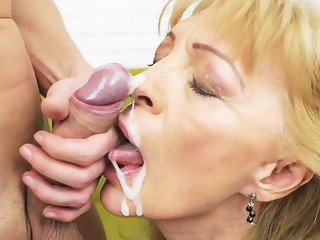 Matures and grannies cummed more than - cumshot compilation