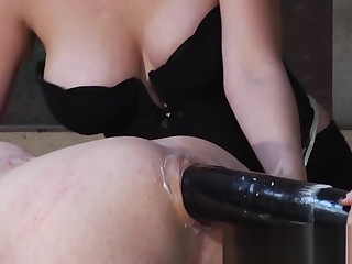 Kiki increased by Aiden description a Herculean black toy to peg a sissy boy!