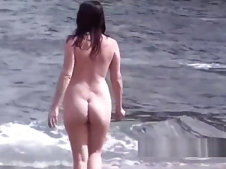 Beautiful Amateur Pregnant Nudist Milf Beach Voyeur Spy
