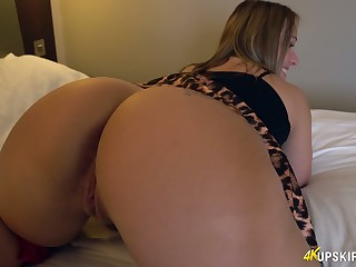WOW milf with huge appetizing ass Ashley Rider shows her overgrown pussy upskirt