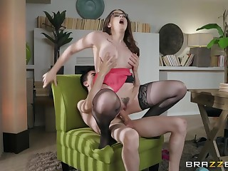 Skivvies clad milf Chanel Preston getting dicked beside contracting orgasm. Pt.2