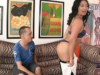 pretty Accidental Starr likes to ride on friend's fat penis until both cum