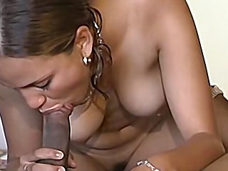 Amateur ebony babe in toto completely by a big black cock