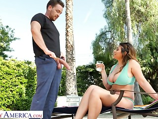 Marvelous bosomy loveliness Ella Knox desires to urgency fat prick on top