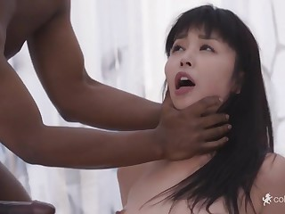 Tall Asian Mommy Gets Big Black Cock Double Fuck - marica hase