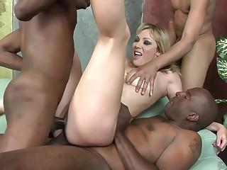 Adrianna Nicole Beamy Black Penis Gangbang