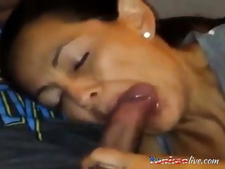 Horny milf sucks dick and wants go off at a tangent cum in her mouth