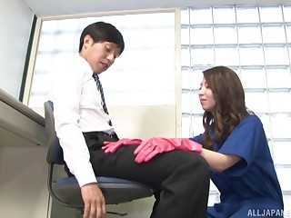 Beautiful Japanese wants to suffer the consequences of c take boss's bodily kinky desires