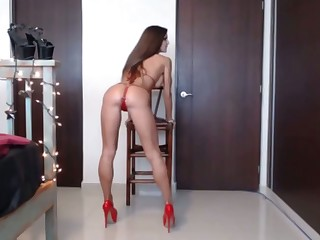 sweltering babe fucking her peppery dildo mainly webcam