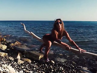 Russian Girl Sasha Bikeyeva -   Stunning nudist teases on camera, gets fucked and sucks a tourist on the beach