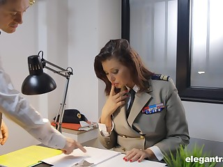 Uniformed Anna Polina wants to please her collaborate with hard fuck
