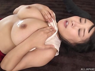 Standing doggy after amazing blowjob is a wish of horny Japanese