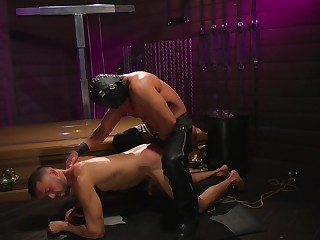 Gay lovers share a brutal BDSM anal statute together