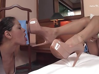 Rebecca Rios - brazen heels and foot lesbian fetish