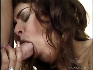 Sexy and lovely porn hottie Lennox treats cocks a hot and nasty blowjob