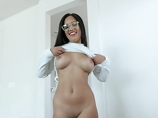 Latina Hot Teen Lets Me Creampie The brush