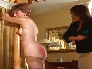 Older catholic spanked by lady of the house