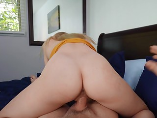 Girl rides step brother's cock in reverse be advantageous to a full POV tryout