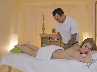 Massage turns pretty steamy formerly the wife starts craving for cock