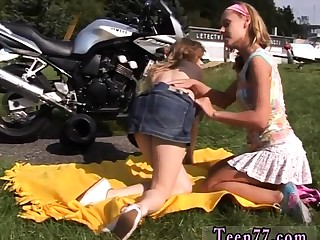 Dirty stiffener enjoyment from teen with the addition of ass Hyperbolic sports jargon pulverize Young lesbo biker