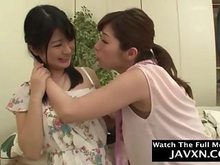 Lustful Japanese lesbians amateur sex photograph