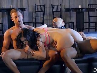 Black, Brunette, Babe, Big cock, Big black cock, Big pussy, Curvy, Ffm, Interracial, Pussy, Threesome